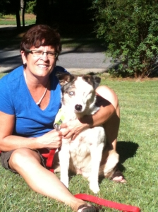 Cathy Miller Saye and her deaf dog Felix